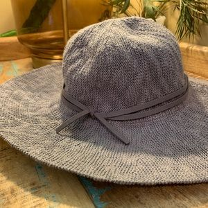 Nine West Panama Style Grey Hat for Fall